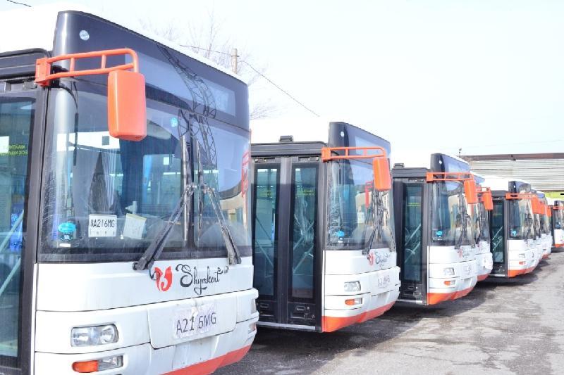 39 новыми автобусами пополнился парк пассажирского транспорта Шымкента