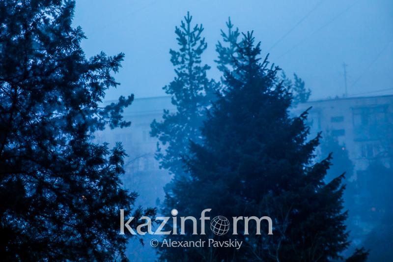 Алматы вновь накрыл густой туман