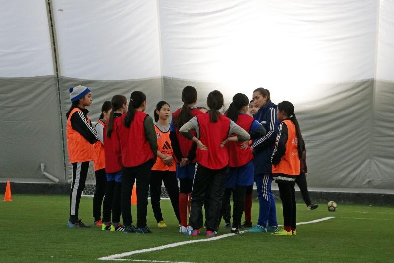 Женская команда впервые создана в футбольном центре «Иртыш» Павлодара