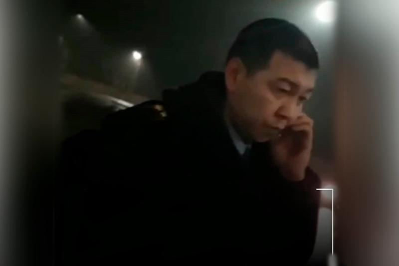 За пьяную аварию на служебном авто уволен подполковник полиции в Таразе
