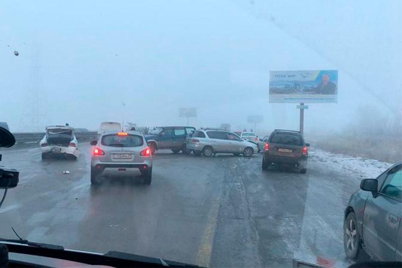 ДТП с участием 31 автомобиля в Алматинской области: 15 человек доставили в больницу