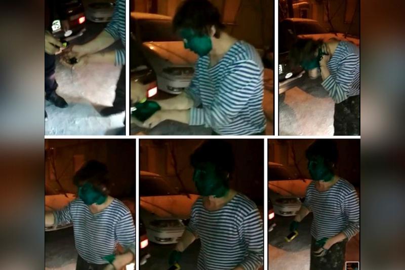Таксисты заставили пассажира умыться зеленкой в СКО