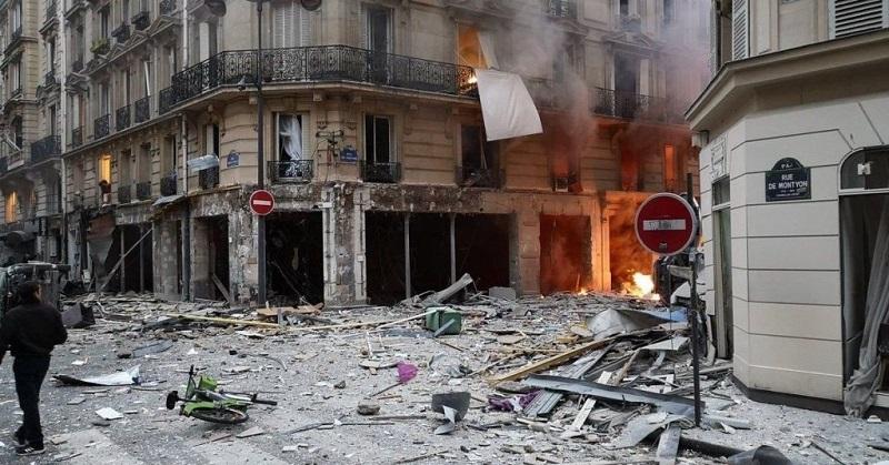 Париждің орталығында қуатты жарылыс болды