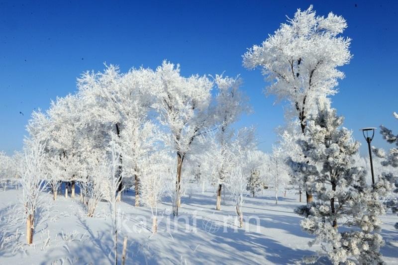 Погода без осадков ожидается 13 января в Казахстане