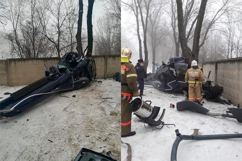 Установлена личность погибшего пилота вертолета в Алматы