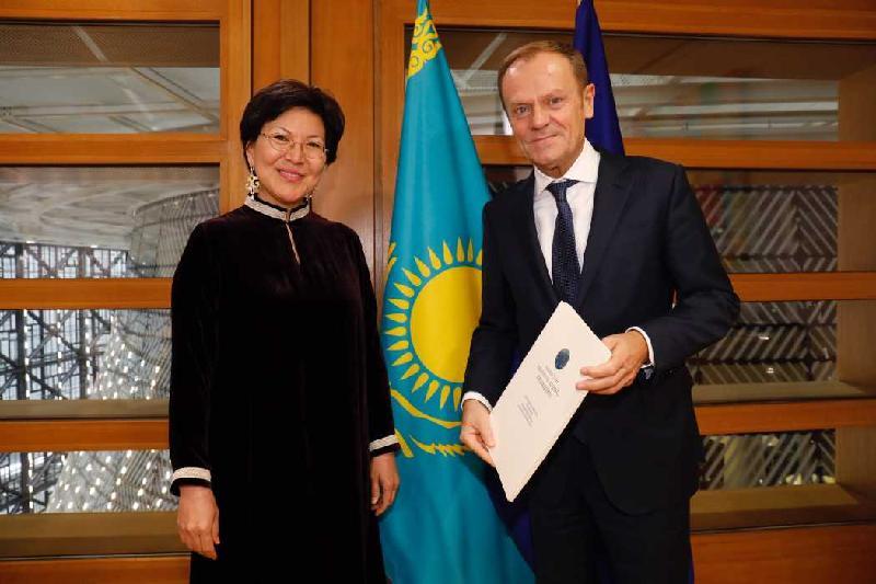 Посол Казахстана в Бельгии вручила верительные грамоты президенту Евросовета