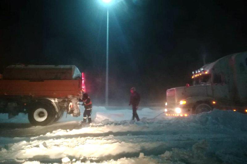 224 человека спасены из снежного плена на дорогах Акмолинской области