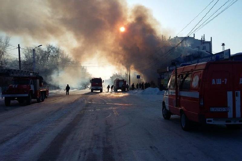 Магазин велотехники горел в Костанае