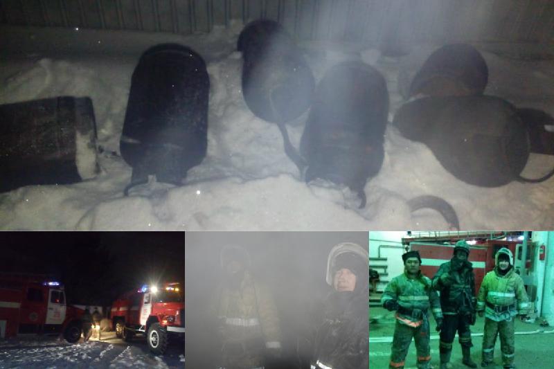 Взрыв семи газовых баллонов предотвратили в Павлодарской области