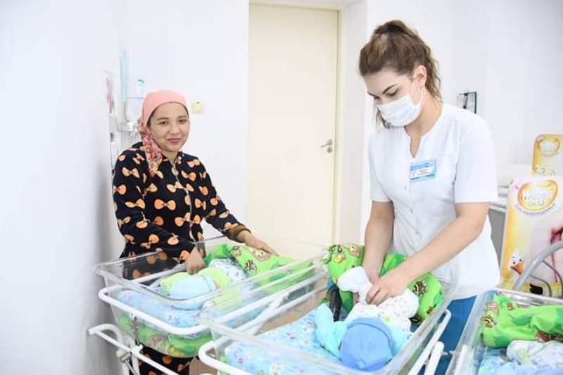 Первая тройня в этом году родилась в Туркестанской области