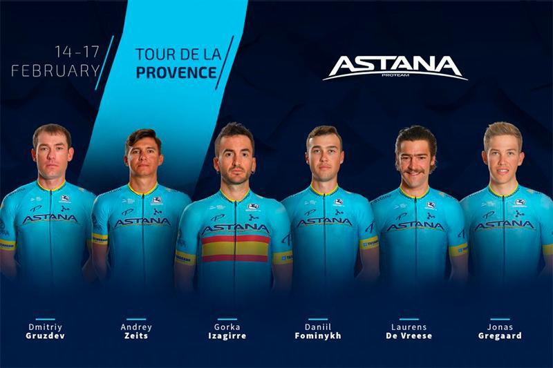 Astana announces roster for Tour De La Provence 2019