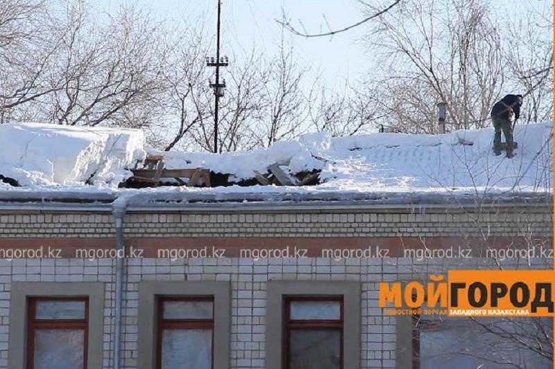 Крыша обрушилась в детском саду Уральска