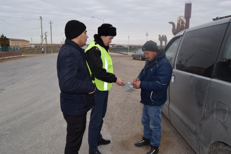 Түркістан облысында заңсыз жолаушы тасымалына қарсы рейд өтті
