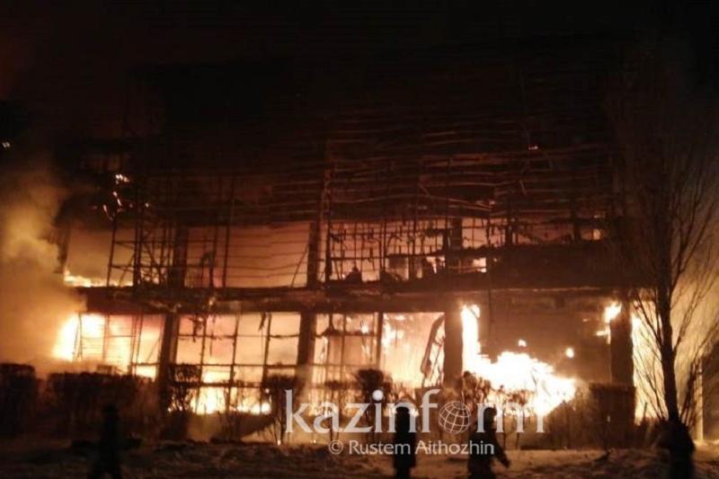 Пожар в офисном здании «Хайвилл Казахстан» в Астане локализован