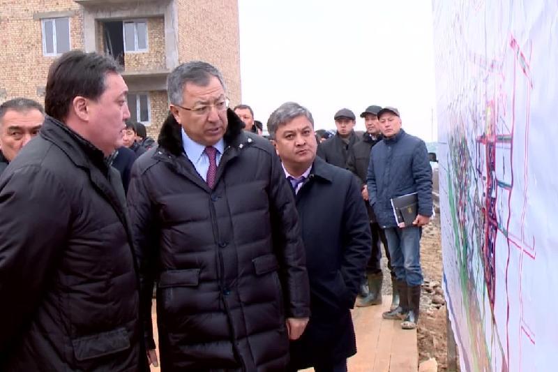 Асқар Мамин Түркістан қаласындағы құрылыс жұмыстарымен танысты