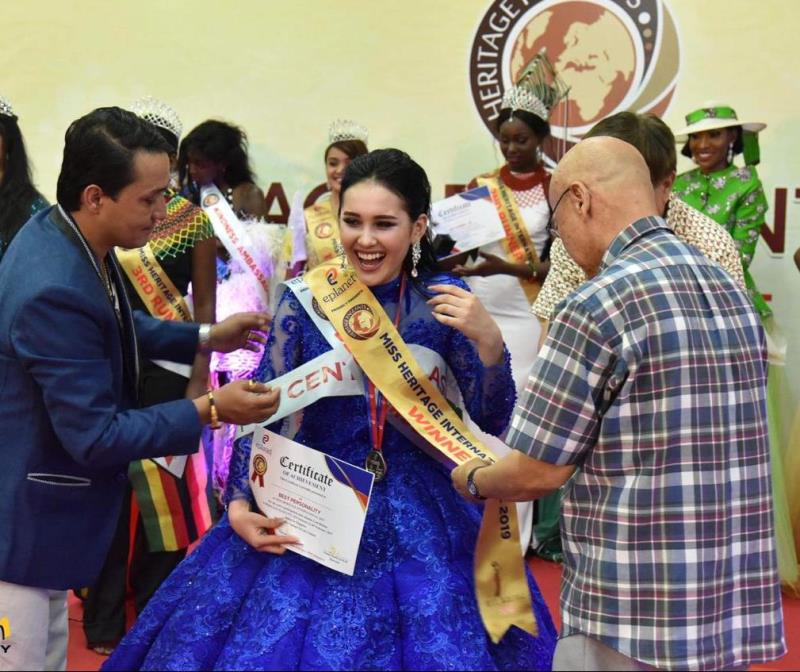 Kazakh girl wins Miss Heritage International-2019 contest