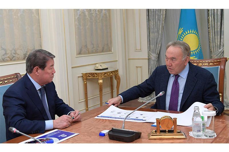 总统接见萨姆鲁克卡泽纳国家基金主席叶西莫夫