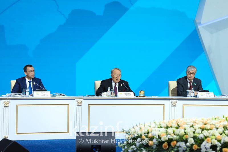 Текст выступления Нурсултана Назарбаева на XVIII съезде партии «Hұp Отан»