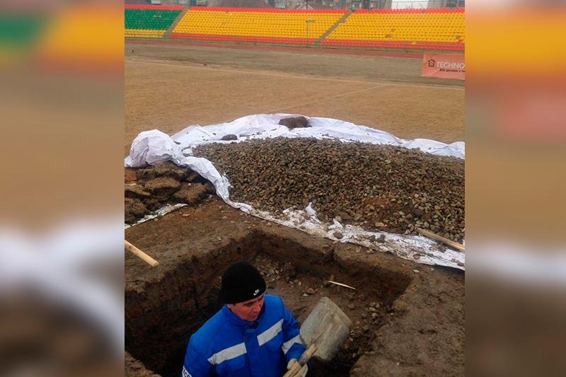 Газон последнего поколения появится на стадионе «Мунайшы» в Атырау