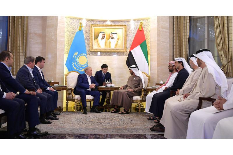 Nursultan Nazarbayev meets with Crown Prince of Abu Dhabi