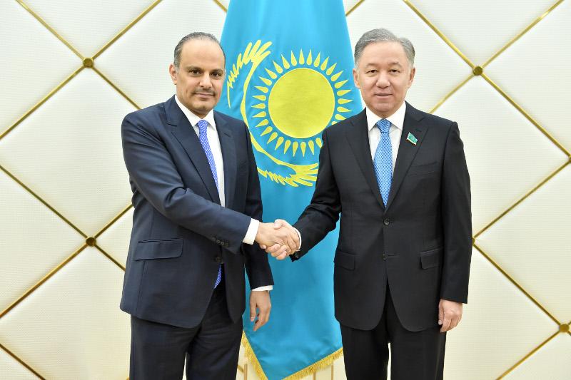 Kazakh Majilis Speaker receives Qatari Ambassador