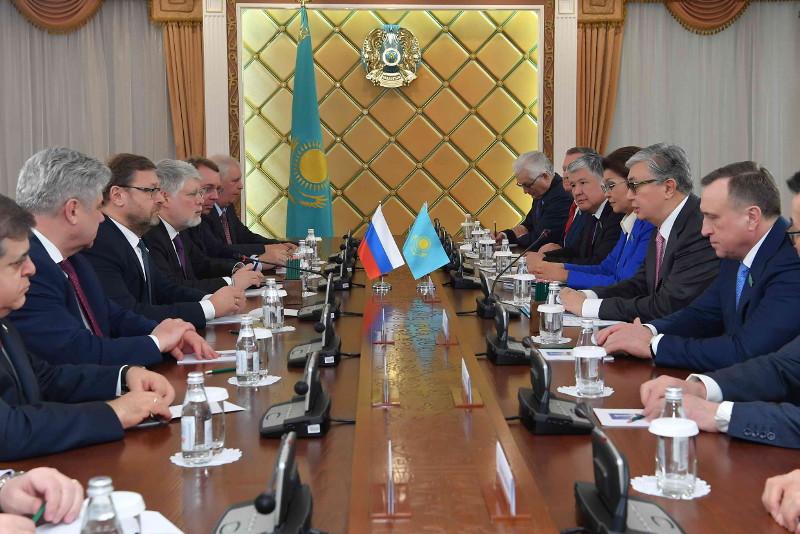 Касым-Жомарт Токаев принял делегацию Совета Федерации России