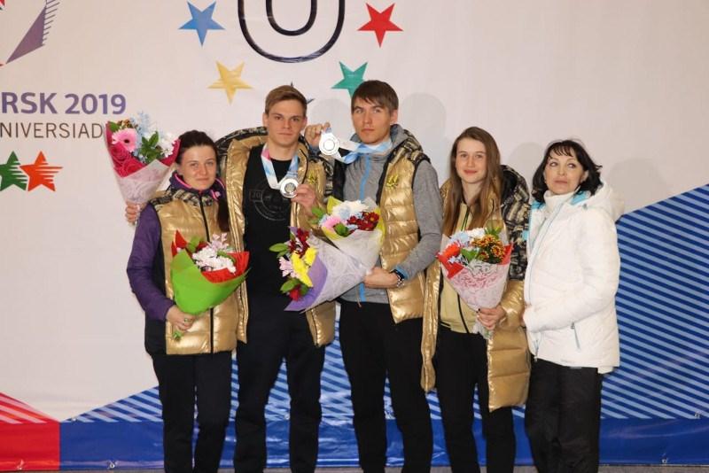 Акмолинцы встретили земляков - серебряных призеров Универсиады