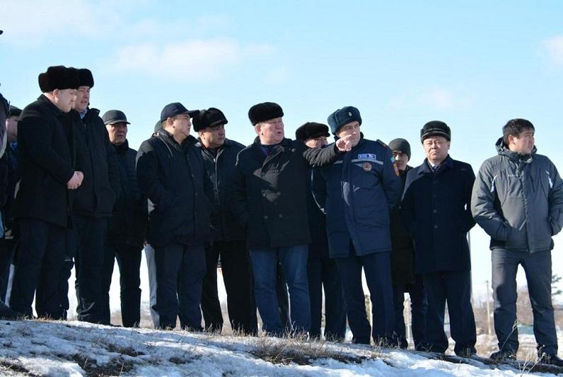Аким Акмолинской области проверил готовность Атбасара к паводку