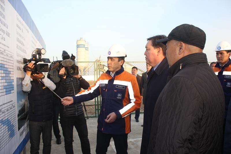 Асқар Мамин Түркістан қаласында бірқатар нысанның құрылыс барысымен танысты