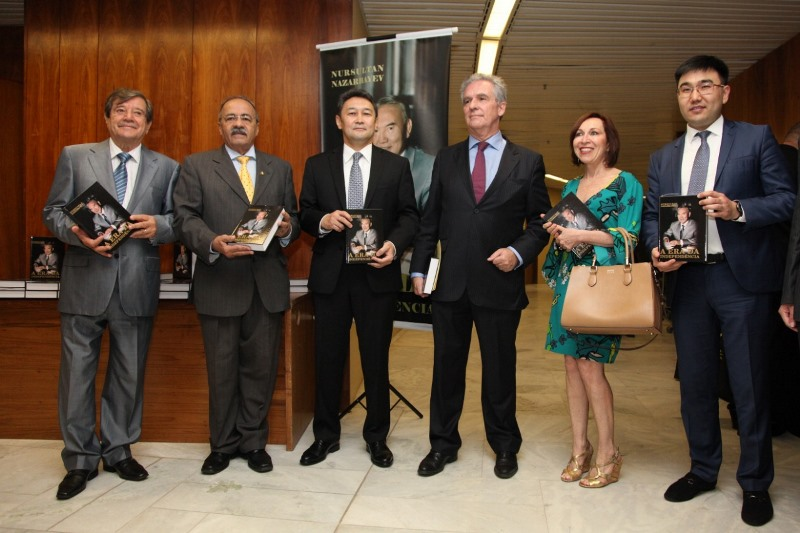 Book of Kazakh President The Era of Independence presented in Brasilia
