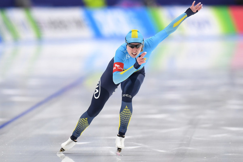 Kazakhstan's speed skater wins big in Calgary