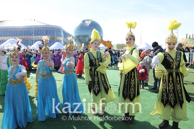 Yurts emerge at EXPO town in Astana as Nauryz celebrations sweep the city