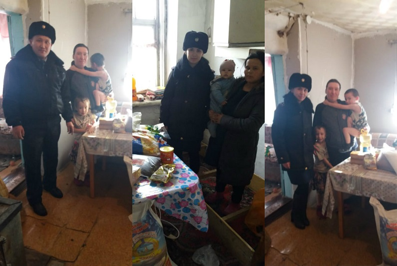 #Делай добро: Достойно встретить Наурыз помогли матери-одиночке полицейские Алматинской области