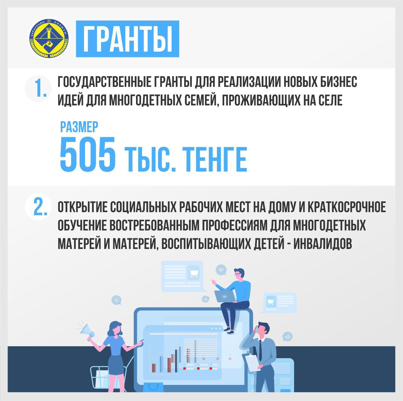 Адресная социальная помощь. Карагандинская область