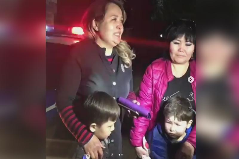Полицейские Шымкента нашли двух потерявшихся дошколят