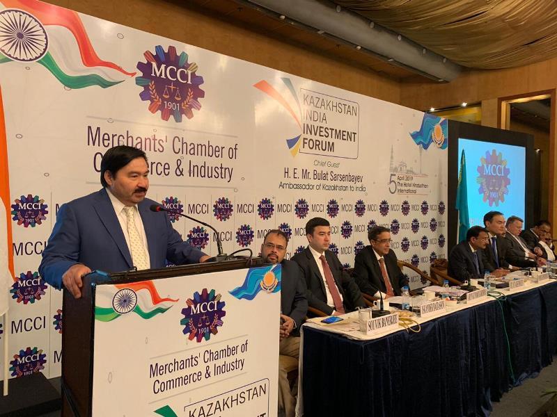 哈萨克斯坦-印度投资论坛在加尔各答举行