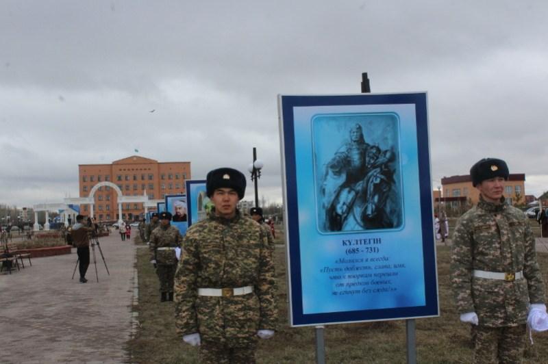 Аллея с портретами деятелей Великой степи появилась в Акмолинской области