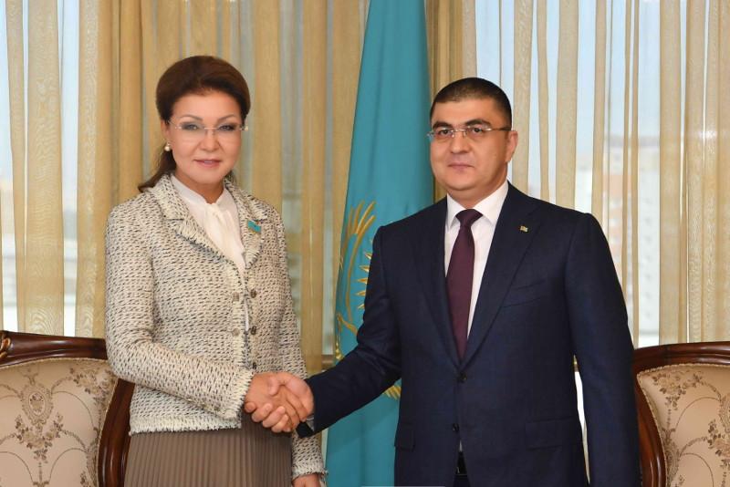 参议院议长纳扎尔巴耶娃会见土库曼斯坦驻哈大使