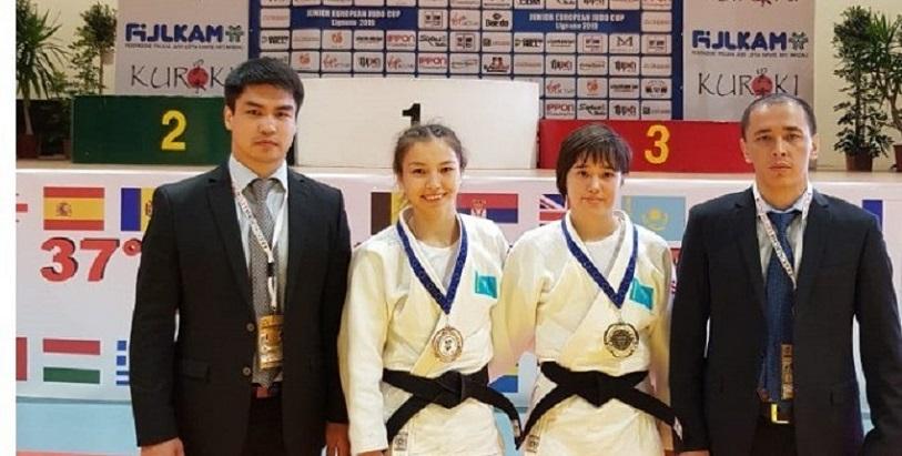 哈萨克斯坦柔道运动员获得欧洲杯青年柔道大赛冠军