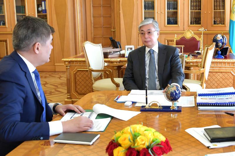总统接见卫生部部长比尔塔诺夫