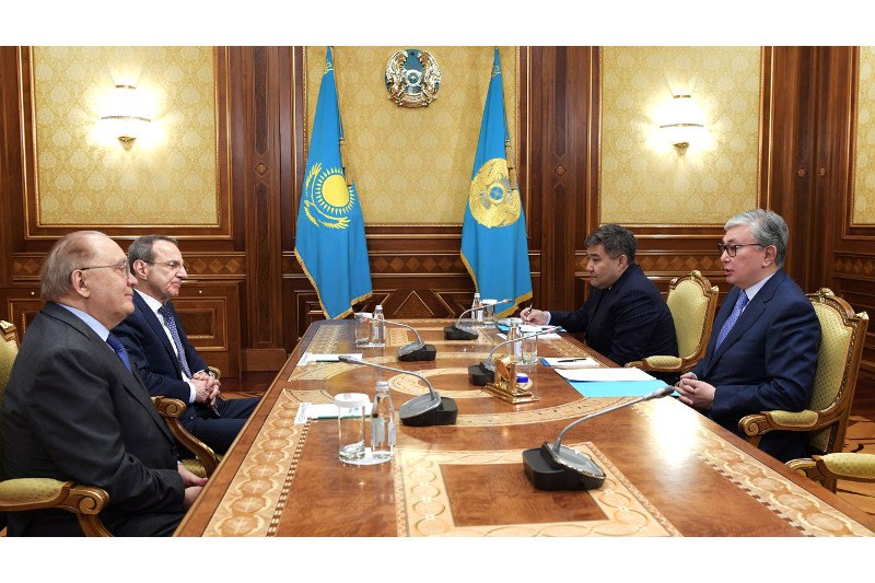 Kazakh President receives Rector of Moscow State University