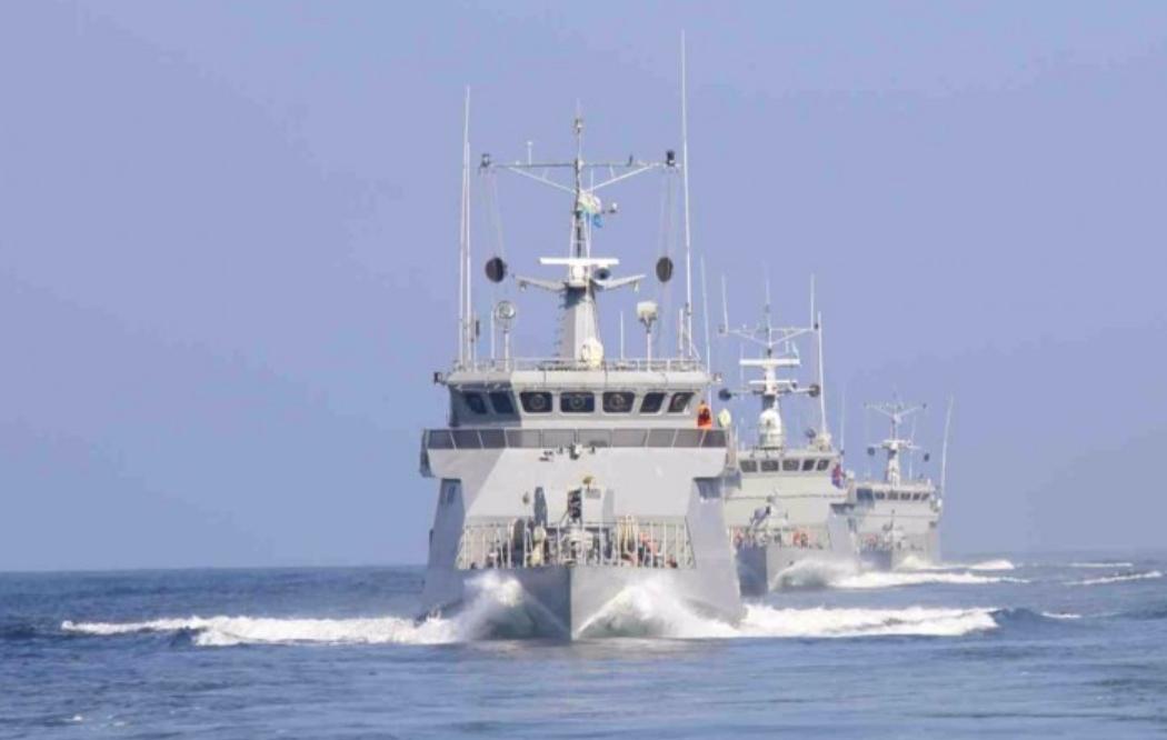 海军里海舰队开展例行训练