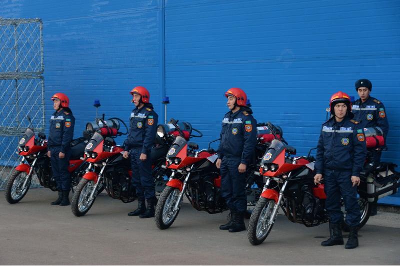 Алматыда өрт сөндіруші мотоциклдер жобасы қайта іске қосылды