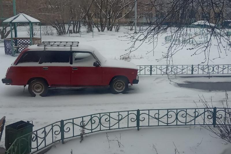 Снег выпал повсеместно в Акмолинской области