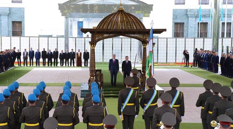 Видео первого государственного визита Президента Казахстана в Узбекистан
