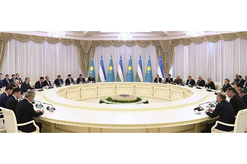 Kazakh, Uzbek presidents had enlarged meeting