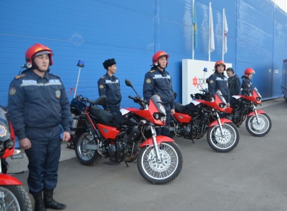 Пожарные мотоциклы вновь заступают на защиту Алматы