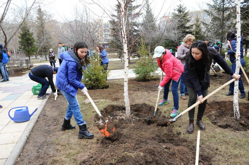 Более 1,6 тысяч деревьев высадят в столице на субботнике
