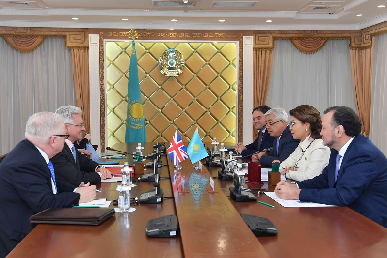 Kazakh Senate Speaker, British Minister of State for Europe and Americas meet