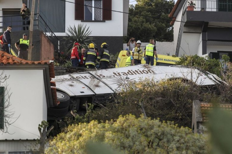 At least 28 killed in Madeira tourist bus accident
